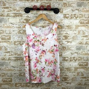 J. Jill floral printed shirttail tank
